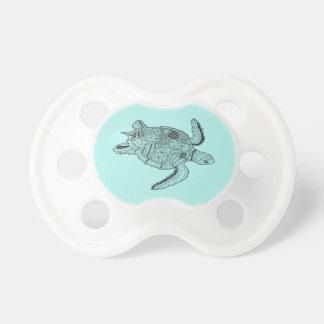 Sea Turtle Lineart Design Pacifier