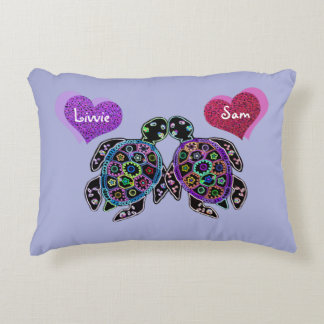 Sea Turtle Love Accent Pillow