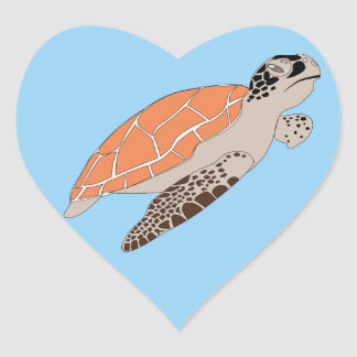 Sea turtle love stickers