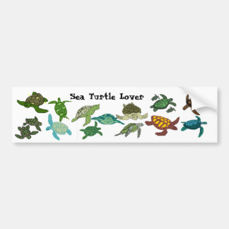 Sea Turtle Lover 2 bumper sticker