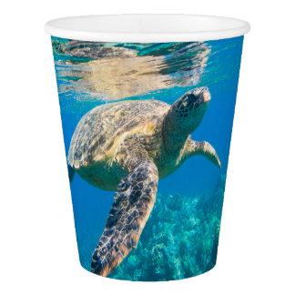 Sea Turtle, Marine Turtle, Chelonioidea, reptile Paper Cup