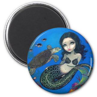 """""""Sea Turtle Mermaid"""" Magnet"""