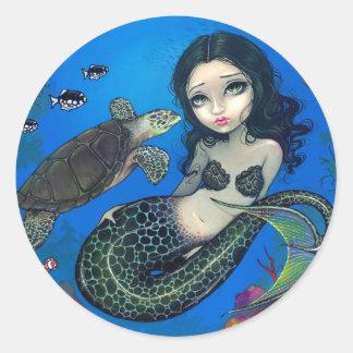 """""""Sea Turtle Mermaid"""" Sticker"""