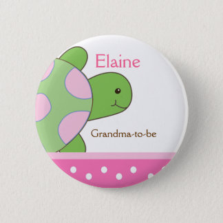SEA TURTLE NAME TAG Personalized Button