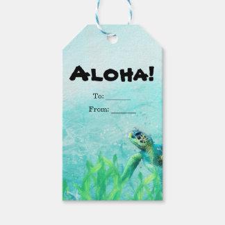 Sea Turtle Ocean Beach Art Elegant Wedding Favor Pack Of Gift Tags