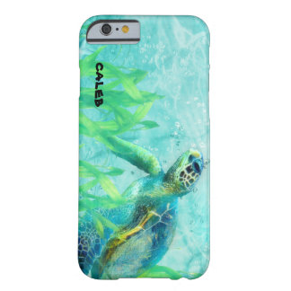 Sea Turtle Ocean Beach Art Tropical Custom Barely There iPhone 6 Case