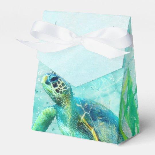 Sea Turtle Ocean Beach Tropical Custom Favour Favor Box