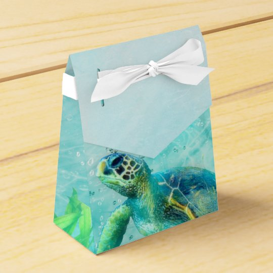 Sea Turtle Ocean Beach Tropical Custom Favour Party Favor Box