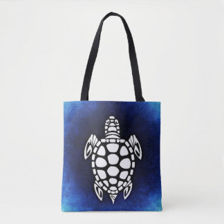 Sea Turtle Ocean Blue Tote Bag