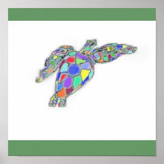 Sea Turtle on Canvas Poster