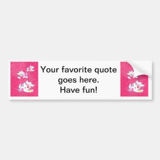 Sea turtle on pink background. bumper sticker