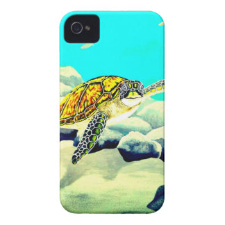 Sea Turtle Painting Beautiful Blue Sea iPhone 4 Case-Mate Cases