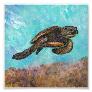 Sea Turtle Painting Photo Print