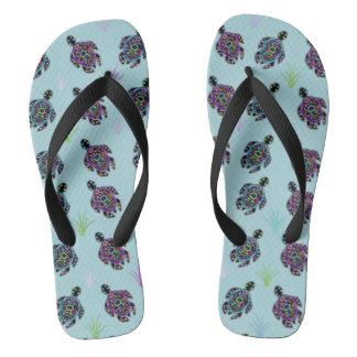 Sea Turtle Pattern Flip Flops