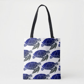 Sea Turtle Pattern Tote Bag