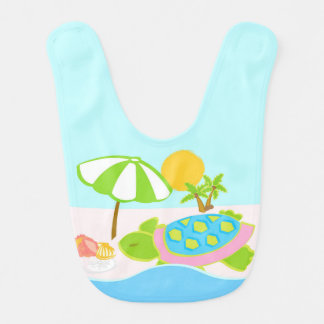 Sea Turtle Pink Baby Bib