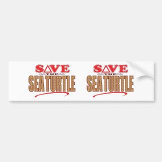 Sea Turtle Save Bumper Sticker