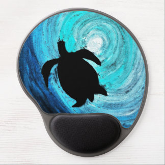 Sea Turtle Silhouette Gel Mouse Pad