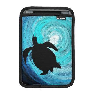 Sea Turtle Silhouette iPad Mini Sleeve