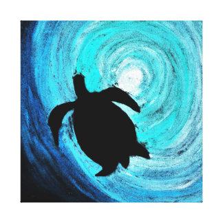 Sea Turtle Silhouette (K.Turnbull Art) Canvas Prints