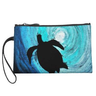 Sea Turtle Silhouette (K.Turnbull Art) Wristlet