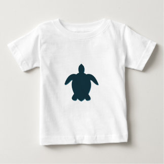 Sea Turtle Silhouette with shadow Baby T-Shirt