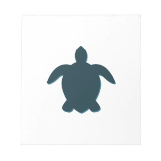 Sea Turtle Silhouette with shadow Notepad