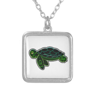 Sea Turtle Silver Plated Necklace