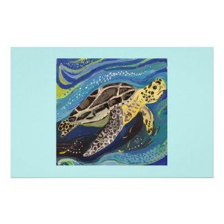Sea turtle stationery