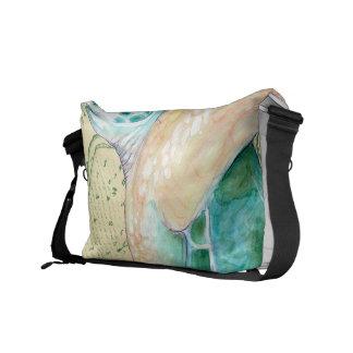 Sea Turtle Tan Map Vintage Messenger Bag