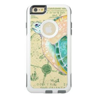 Sea Turtle Tan Map Vintage OtterBox iPhone 6/6s Plus Case