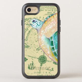 Sea Turtle Tan Map Vintage OtterBox Symmetry iPhone 8/7 Case