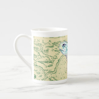Sea Turtle Tan Map Vintage Tea Cup