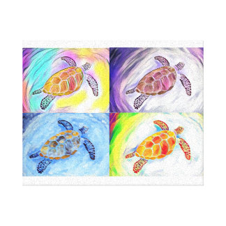 Sea Turtle Watercolor Canvas Print