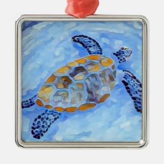 Sea Turtle Watercolor Ornament