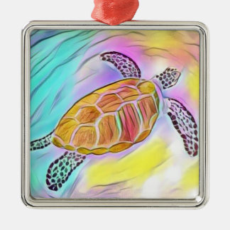 Sea Turtle Watercolor Ornament 2