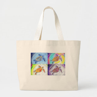 Sea Turtle Watercolor Tote