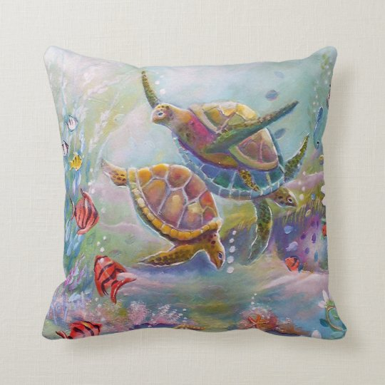 Sea Turtles American MoJo Pillow