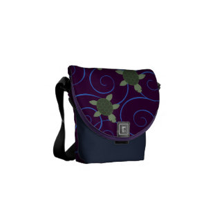 Sea Turtles and Swirls Messenger Bag