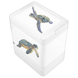 Sea Turtles Animals Ocean Wildlife Can Cooler