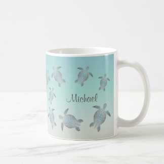 Sea Turtles Beach Style Monogram Coffee Mug