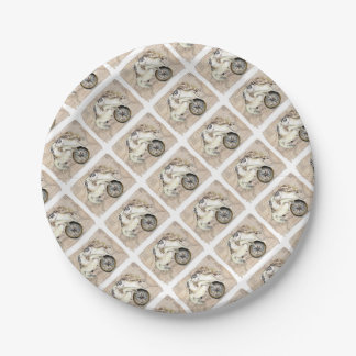 Sea Turtles Compass Map 7 Inch Paper Plate