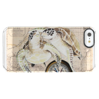 Sea Turtles Compass Map Clear iPhone SE/5/5s Case