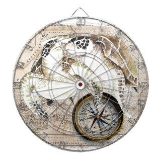 Sea Turtles Compass Map Dartboard