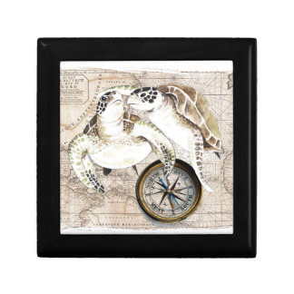 Sea Turtles Compass Map Gift Box