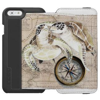 Sea Turtles Compass Map Incipio Watson™ iPhone 6 Wallet Case