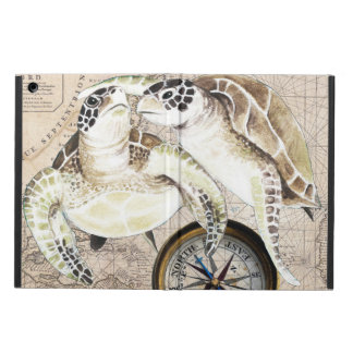Sea Turtles Compass Map iPad Air Cover