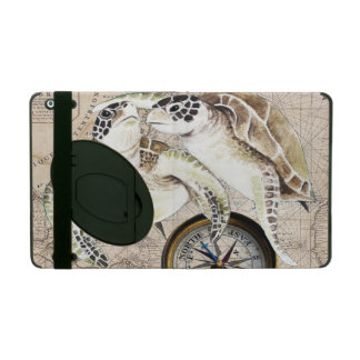 Sea Turtles Compass Map iPad Case