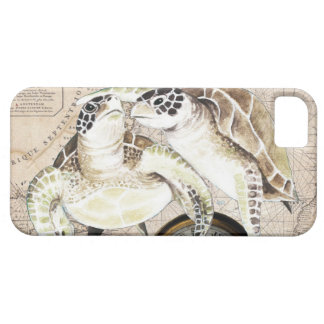 Sea Turtles Compass Map iPhone 5 Case