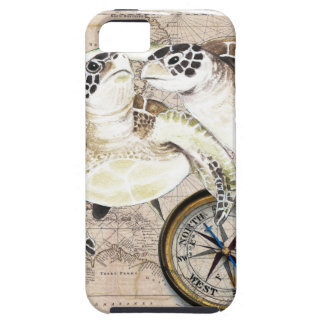Sea Turtles Compass Map iPhone 5 Cover